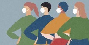 dessin femmes masquées